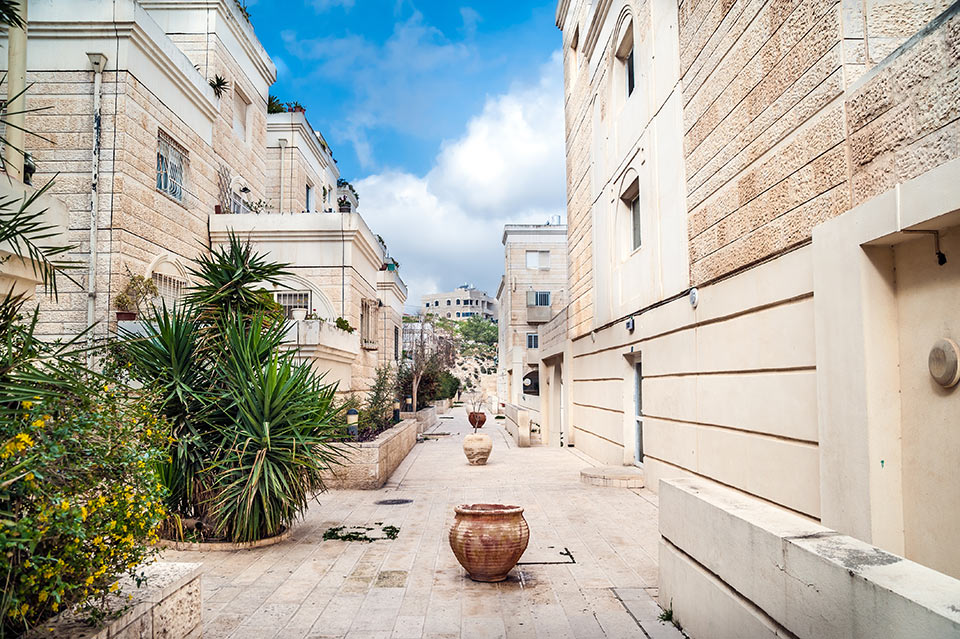 View on residential district in Jerusalem
